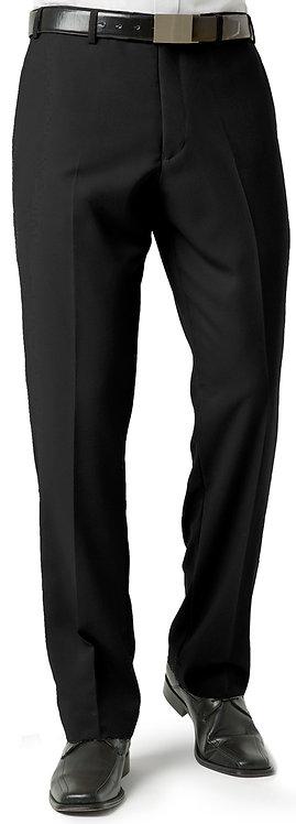 Mens Classic Pleat Front Pant - Black