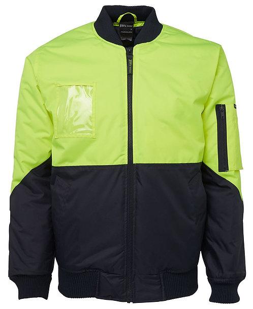 Hi Vis Flying Jacket - Lime/Navy