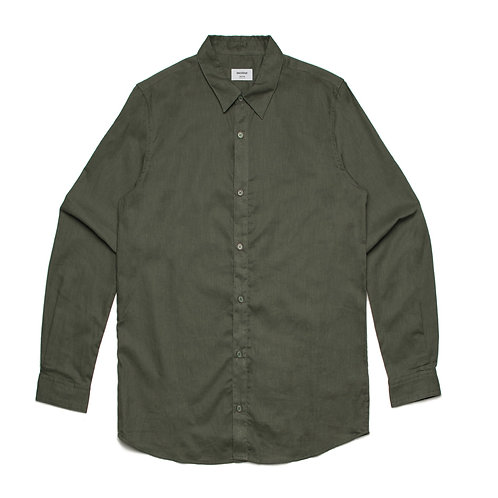 AS Colour Cotton/Linen Shirt Khaki - Available from