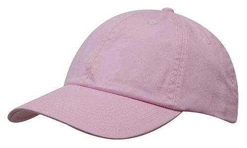 Washed Chino Twill Cap Pink- MOQ 10