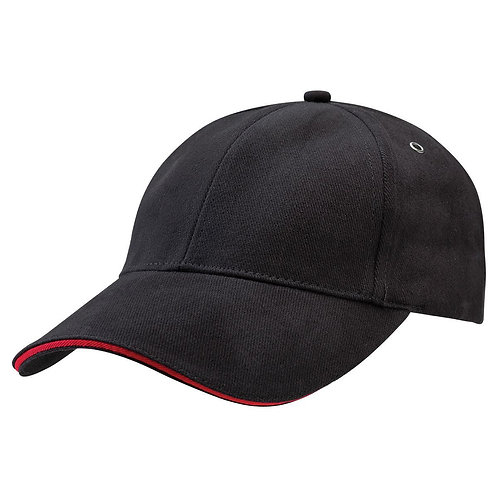 Sandwich Peak Cap Black/Red -  Pack of 10