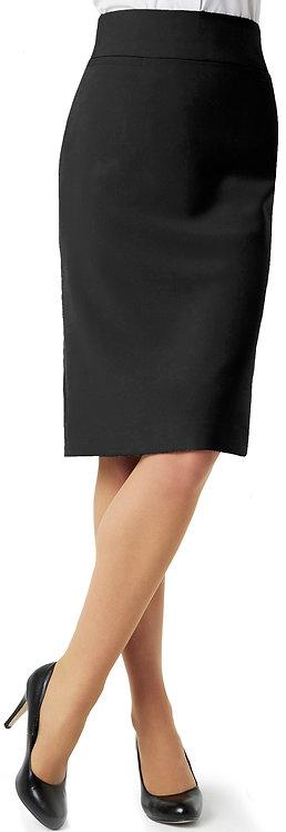 Womens Classic Below Knee Skirt - Black