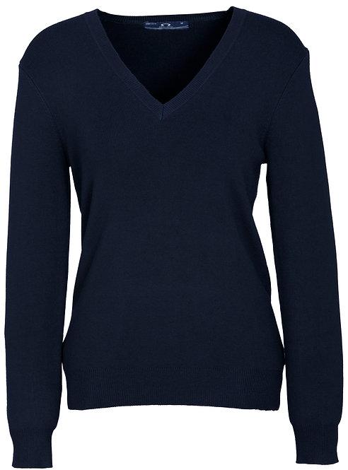 Womens V-Neck Pullover - Navy