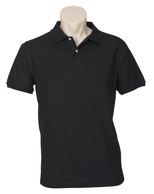 Men's Neon Polo - Black