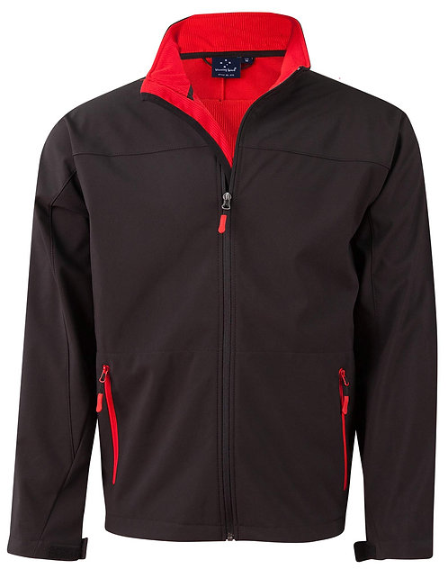 Rosewall Soft Shell Jacket - Black/Rede