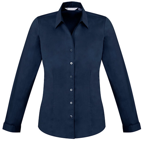 Womens Monaco L/S Shirt - Navy