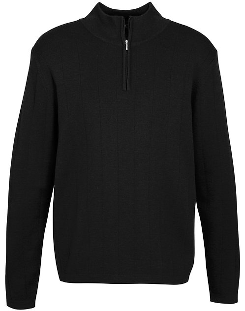 Mens 80/20 Merino Wool Rich Pullover - Black