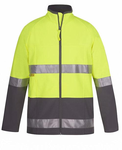 Hi Vis (D+N) Softshell Jacket - Lime/Charcoal