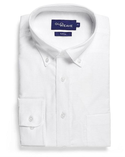 Mens Cotton Rich Oxford Weave Shirt - White