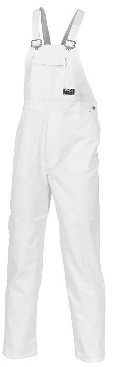 Cotton Drill Bib And Brace Overall - White
