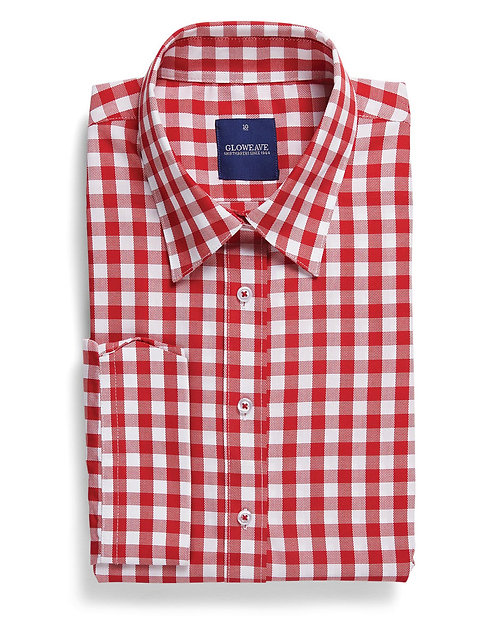 Womens Oxford Check Shirt Red