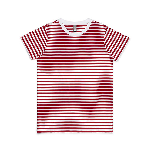 AS Colour Womens Maple Stripe Tee - 3 Colours