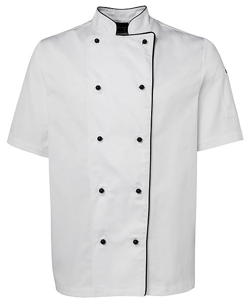 Unisex SS Chef's Jacket - Piped