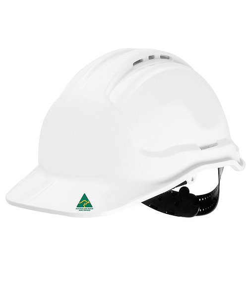 Hard Hat Pin Lock Harness - White PACK of 18
