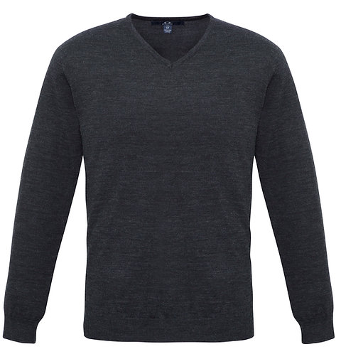 Mens Milano Wool Blend Pullover - Charcoal