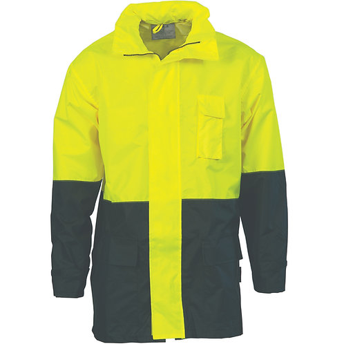 HiVis Two Tone Light weight Rain Jacket
