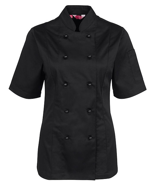 Ladies SS Chef's Jacket - Black