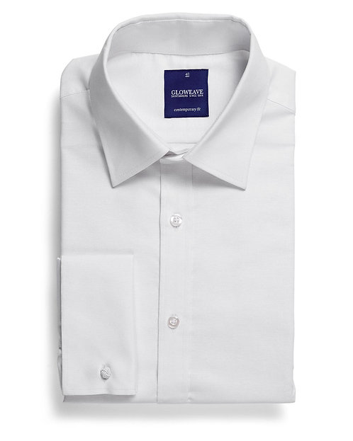 Mens Cotton Rich LS Oxford Shirt - White