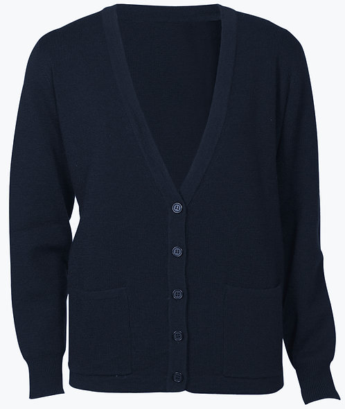 Womens 50/50 Woolmix Cardigan - Navy