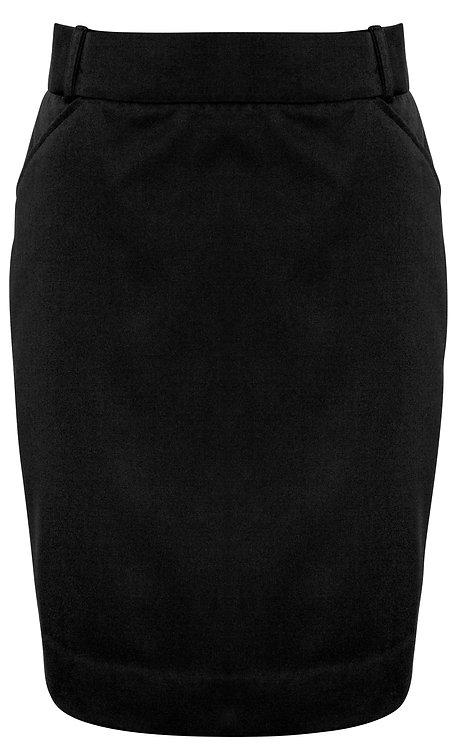 Womens Flexi Band Skirt - Black