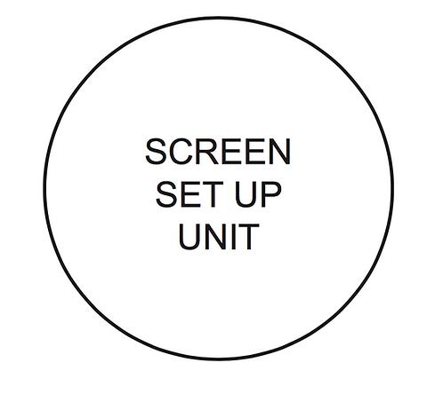 Screen Set Up Unit