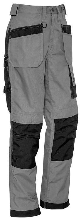 Syzmik Mens Ultralite Multi-Pocket Pant - Silver/Black