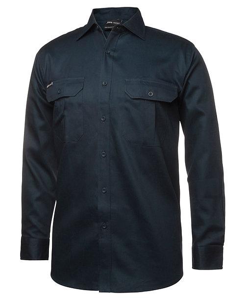 JB's L/S 190G Work Shirt - Green