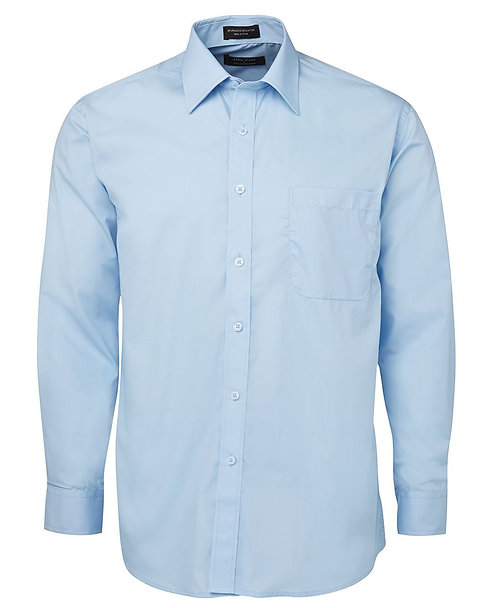 Mens LS Poplin Shirt - Blue