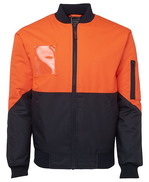 Hi Vis Flying Jacket - Orange/Navy