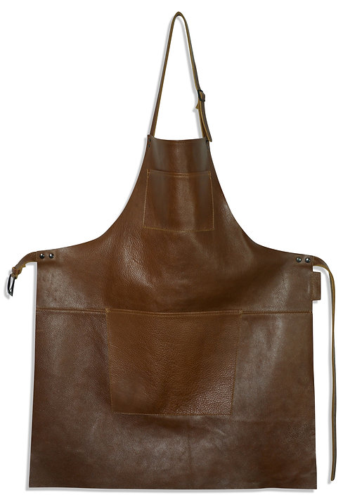 The European Leather Apron Classic Brown