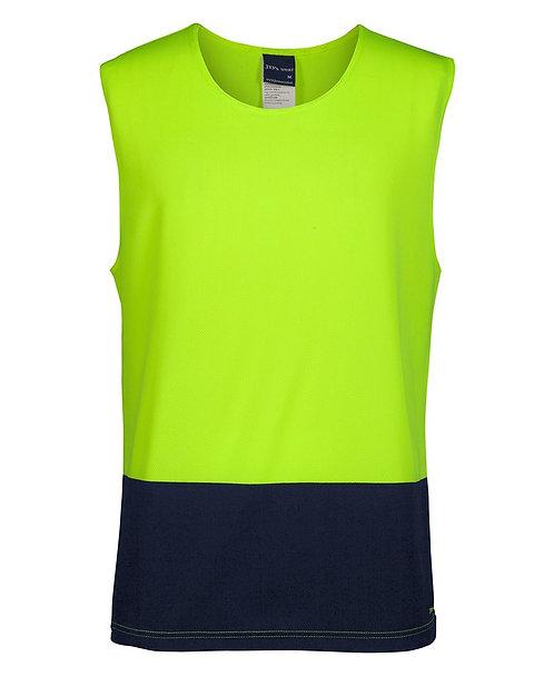 Hi-Vis Muscle Singlet - Lime/Navy