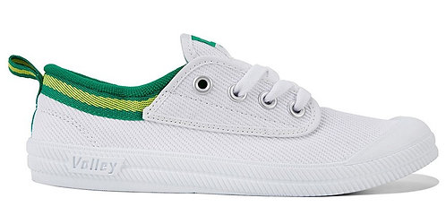 Dunlop Volley International Canvas - White/Green/Gold