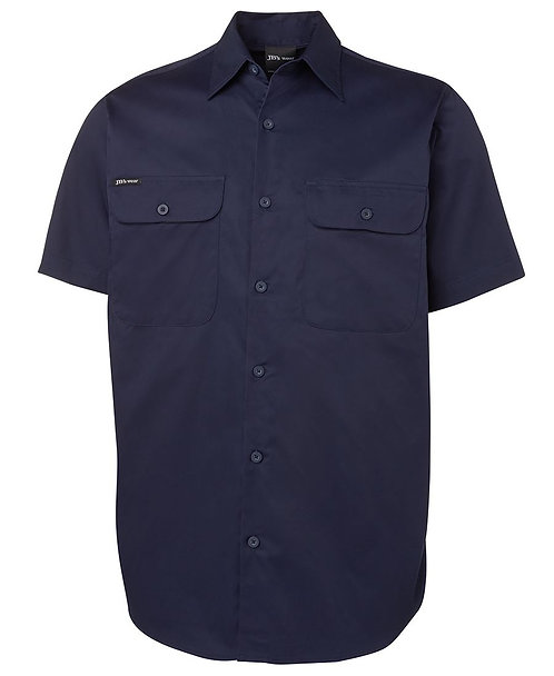JB's S/S 150G Work Shirt - Navy