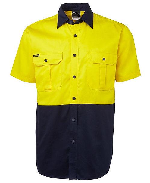Hi Vis S/S 190G Shirt - Yellow/Navy