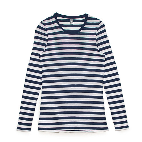 AS Colour Womens Fine Stripe L/S Tee - Available from