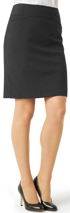 Womens Classic Knee Length Skirt - Charcoal