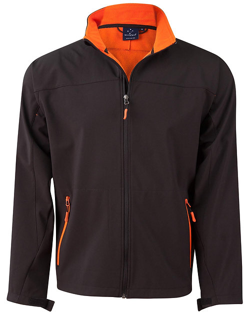 Rosewall Soft Shell Jacket - Black/Orange