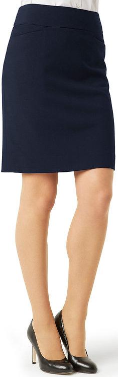 Womens Classic Knee Length Skirt - Navy