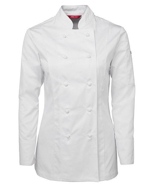 Ladies LS Chef's Jacket -White