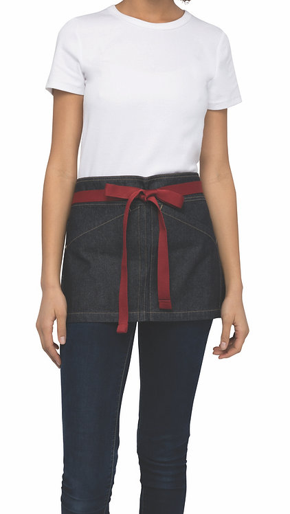 Berkeley Mid Blue Short Waist Apron - Straps Included