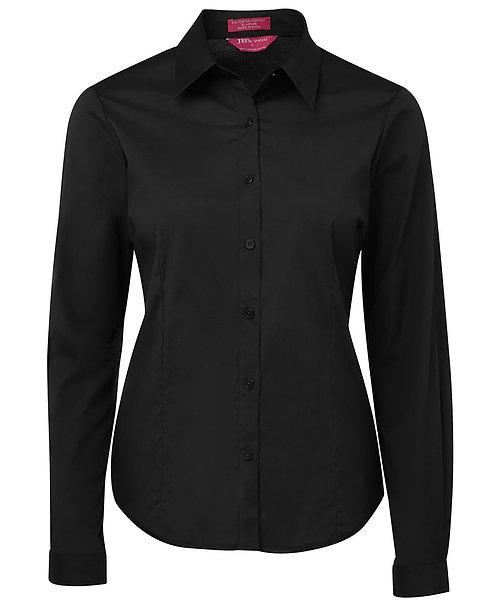 Ladies Urban LS Poplin Shirt - Black