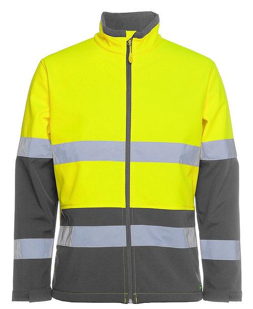 Hi Vis D+N Water Resistant Softshell Jacket - Lime/Charcoal