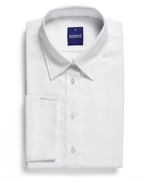Womens Cotton Rich Oxford 3/4 Shirt- White