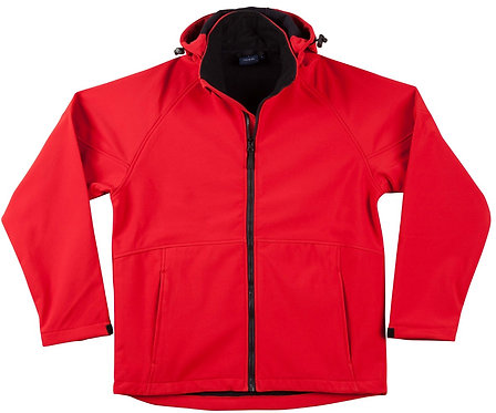 Mens Team Softshell Hood Jacket Men's - Red x6