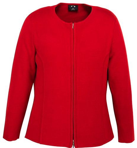 Womens 2-Way Zip Cardigan - Red