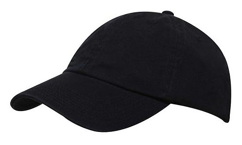 Washed Chino Twill Cap Navy- MOQ 10