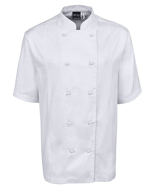 Unisex SS Vented Chef's Jacket - White