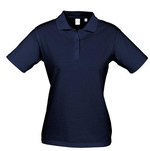 Womens Premium 100% Cotton Polo - Navy