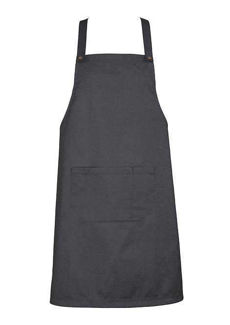 Slate Easy Bib Apron with Changeable Straps