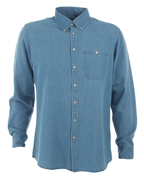 Men's Dylan Long Sleeve Denim Shirt - Vintage Blue